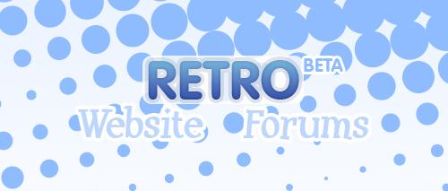 Vector Retro Splash Page