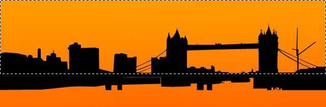 london skyline vector. Adding Vector Burst Background