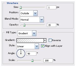 Photoshop tutorials. Stroke options.