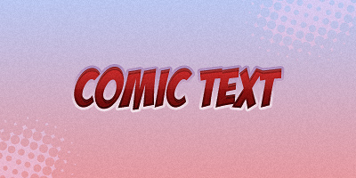 Comic Text Tutorial Result Image