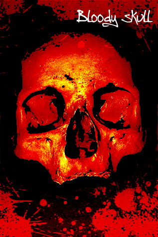 Photoshop Tutorials. Bloody Skull, Brushes, Angryblue, Photo Effects.