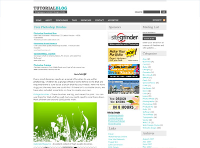 TutorialBlog - Free Brushes Article